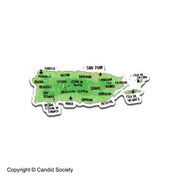 CANDID SOCIETY -Puerto Rico Map