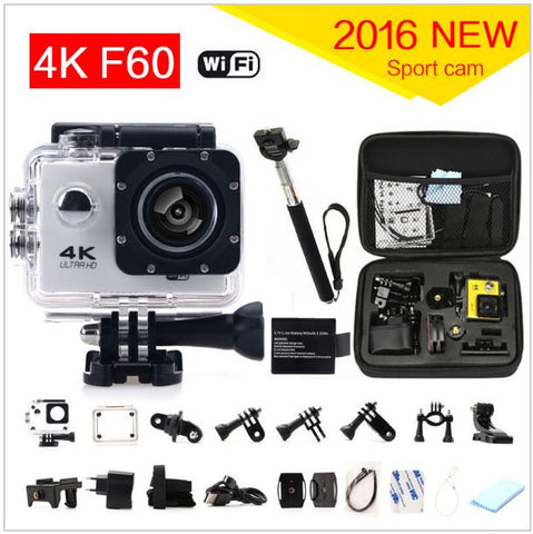 "Gopro Style Wifi Action Camera ""COMPLETE PACKAGE""  4K/30fps 1080P/60fps 720P/120fps 2.0"" Waterproof"