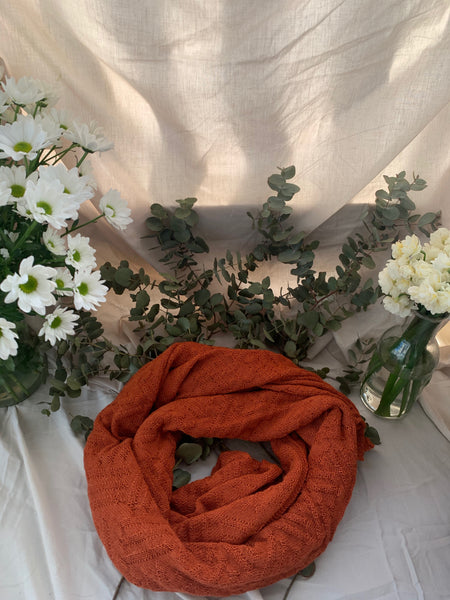 burnt orange alpaca shawl stylish warm australian made