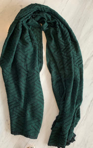 emerald green alpaca shawl stylish warm merino blend