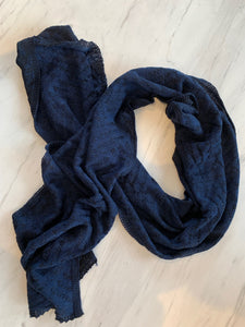 dark blue black stylish alpaca scarf australian made
