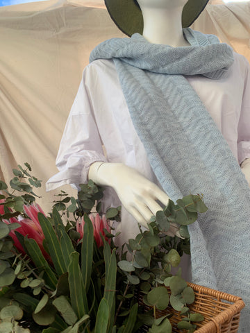 Alpaca - Periwinkle Light Blue Scarves