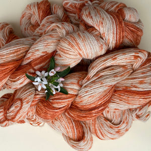 Alpaca Yarn - Orange Dots 4 ply