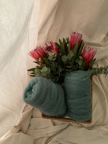 Sea Green Alpaca Silk Bump - 100g