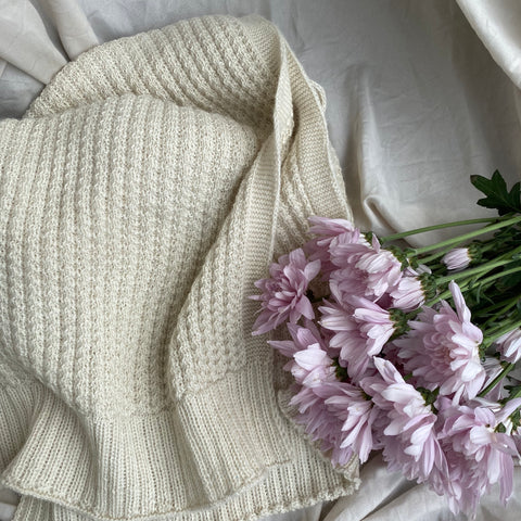 cozy comfortable cream alpaca scarf