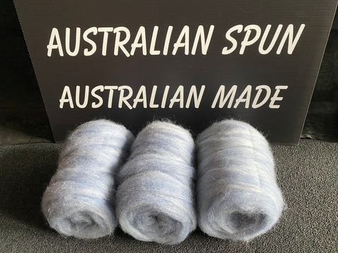 Denim Blue Alpaca Silk Bump