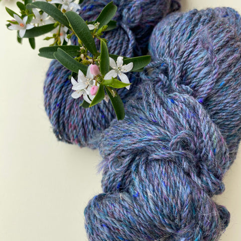 Alpaca Yarn Reloved Blue Bejewelled 10ply