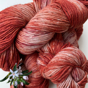 Alpaca Yarn Red Rust 4 ply