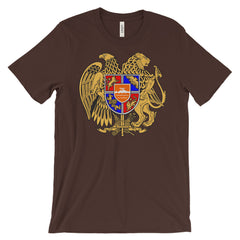 Armenian Coat of Arms - Full Color - Unisex Short Sleeve T-Shirt