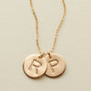 "Double Disc Necklace- 1/2"" OR 5/8"""