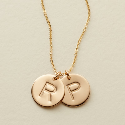 Double Disc Necklace- 1/2