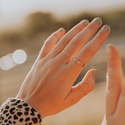 Solid Gold Round Stacking Ring