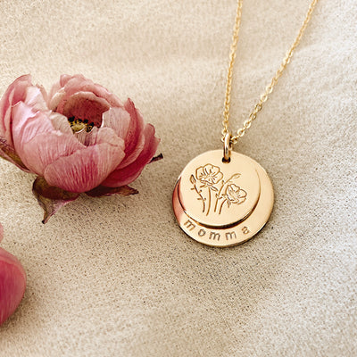 Nora Disc Necklace | 5/8