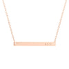 Personalized Rose Gold Name Bar Necklace - Skinny Bar