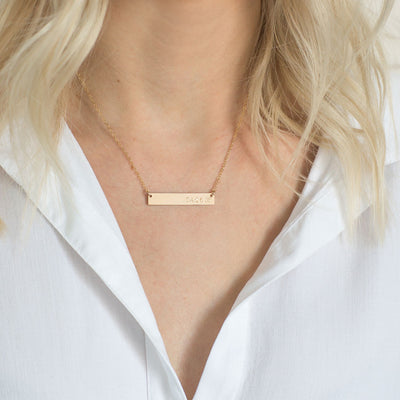 Date Bar Necklace | 1.25