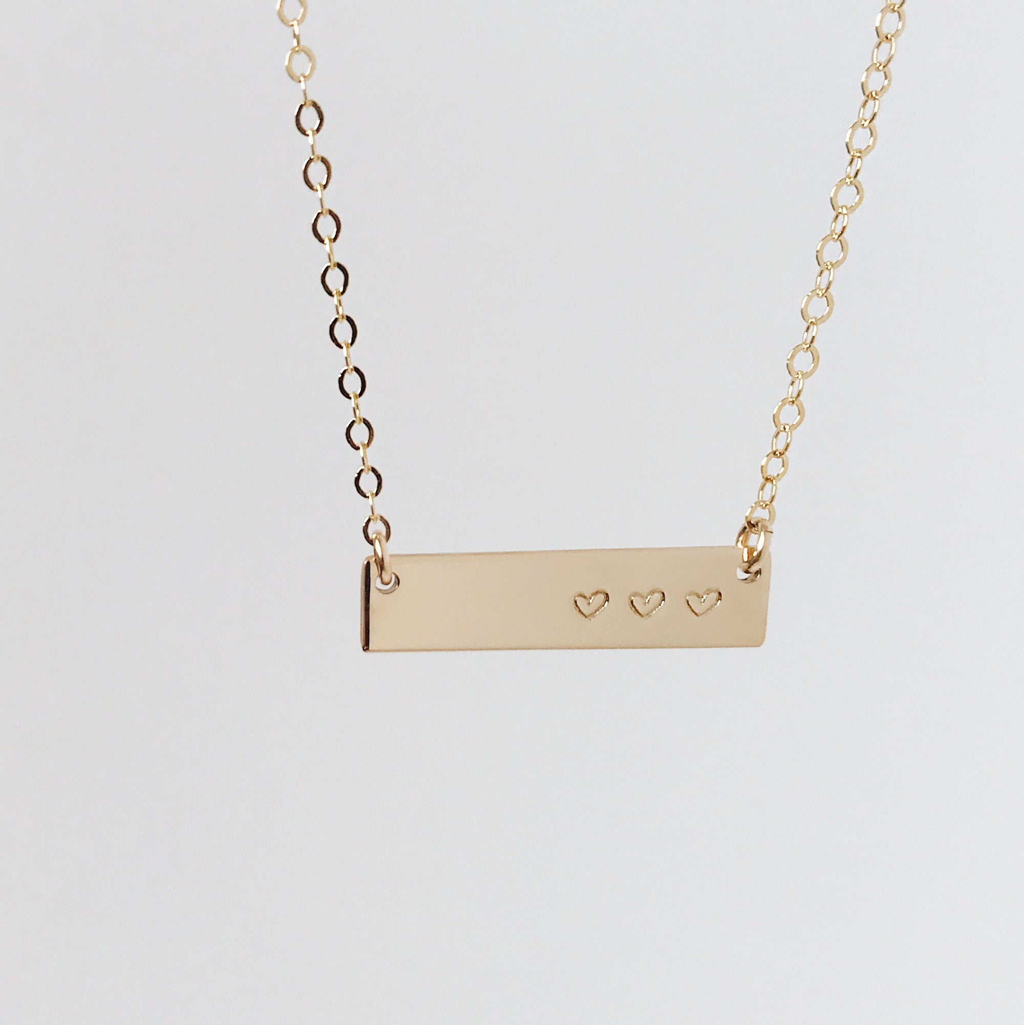 layered petite bar archives gold double jewelry gosia initial chains tag discs product four mini necklace initials meyer