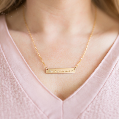 Up Syndrome Bar Necklace