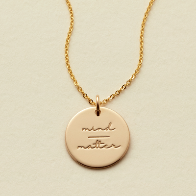 Mind-Matter Disc Necklace- 5/8