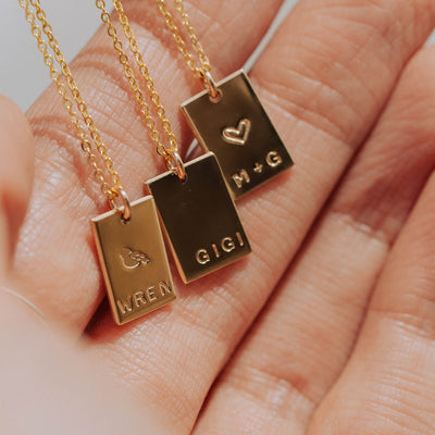 Mini Zoe Rectangle Necklace