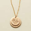 "Nora Disc Necklace - 5/8"" & 1/2"""