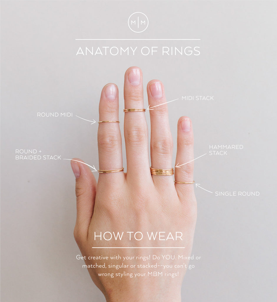 What Finger To Wear Wedding Ring: Round Stacking Ring