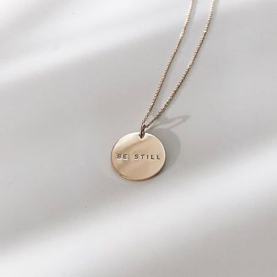 Name Disc Necklace - 3/4