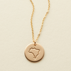 Brazil Passport Stamp Disc Necklace- 1/2""