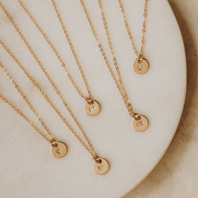 Evie Charm Stacker Disc Necklace