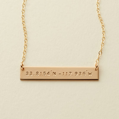 Coordinates Bar Necklace | 1.50