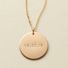 Date Disc Necklace - 3/4""