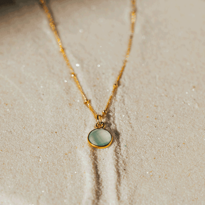 Dew Drop Gemstone Necklace