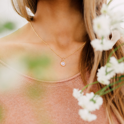 Petal Gemstone Necklace