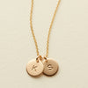 Double Disc Necklace - 3/8""
