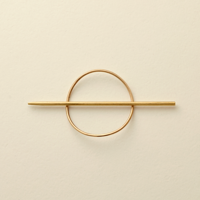 Eclipse Brass Hair Pin