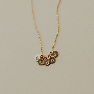 Mini Birth Flower Stacker Necklace | 1/4