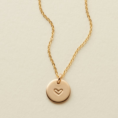 Heart Disc Necklace - 3/8