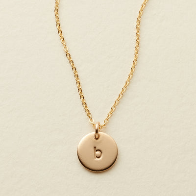 b2712c58a Initial Disc Necklace - 3/8