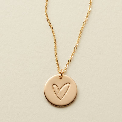 Lovestruck Disc Necklace - 1/2
