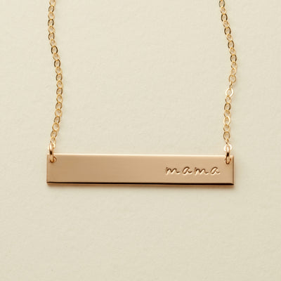 Mama Bar Necklace | 1.25