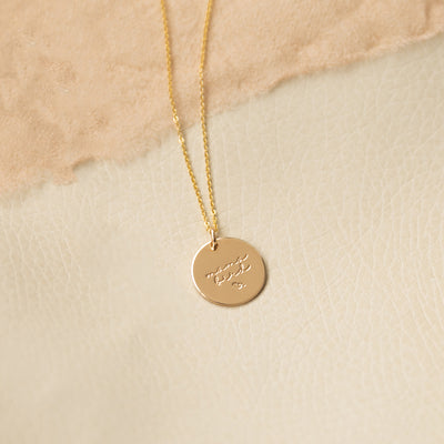 Mama Bird Disc Necklace- 5/8