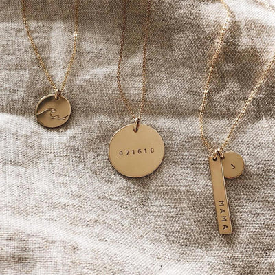 Date Disc Necklace - 3/4