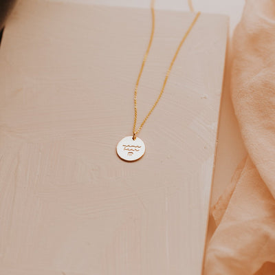 Mama Bear Disc Necklace- 5/8