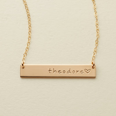 Name Bar Necklace | 1.25