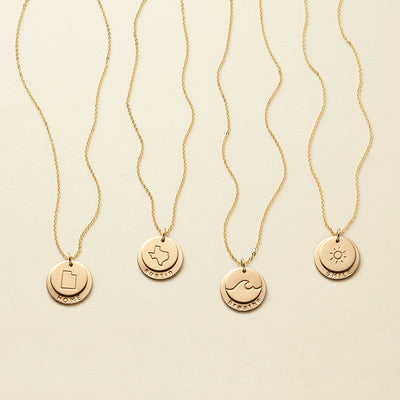 Nora Disc Necklace - 5/8