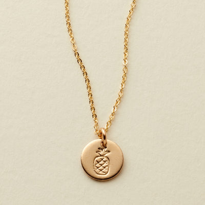 Pineapple Disc Necklace- 3/8