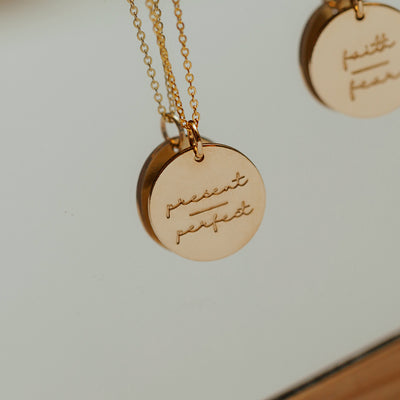 Present-Perfect Disc Necklace- 5/8