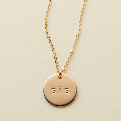 The Sis' Disc Necklace