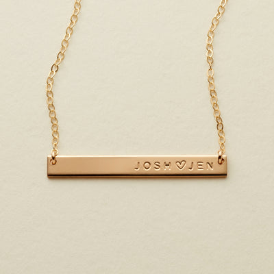 Skinny Name Bar Necklace | 1.50
