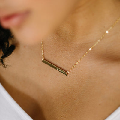 Skinny Name Bar Necklace