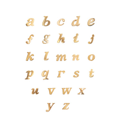 Alphabet earrings with all 26 letters available in solid 14k gold via Made by Mary